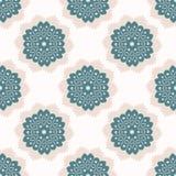 polca Dots Seamless Vector Pattern del tapetito del cordón del estilo de los años 50 Llustration exhausto de Lacy Retro Daisies ilustración del vector