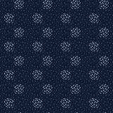 Polca Dots Seamless Vetora Pattern do azul de índigo do sumário, Grunge tirado mão ilustração do vetor