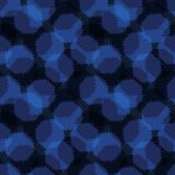 Polca Dots Seamless Vetora Pattern do azul de índigo do sumário, sujo tirado mão ilustração royalty free