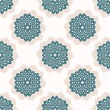 polca Dots Seamless Vetora Pattern do Doily do laço do estilo dos anos 50 Llustration tirado de Lacy Retro Daisies ilustração do vetor