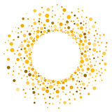 Polca Dots Yellow Frame ilustração royalty free