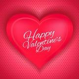 Polca feliz del día del ` s de la tarjeta del día de San Valentín Foto de archivo