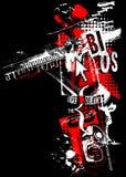 A polca jesus do lixo do grunge do horror do medo da arte de Digitas borra preto ilustração do vetor