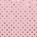 Polca metálica cor-de-rosa Dot Pattern da folha imagens de stock royalty free