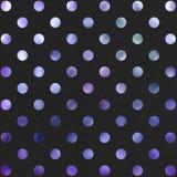 Polca preta roxa Dot Pattern Digital Paper fotografia de stock