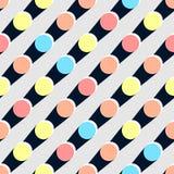 Polca retra Dot Colorful Seamless Pattern del día de fiesta Imagen de archivo libre de regalías