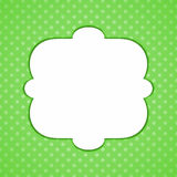 Polca verde Dots Frame Foto de archivo libre de regalías