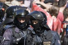 Polícia de motim Foto de Stock