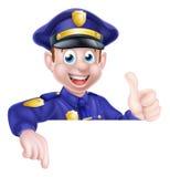 A polícia equipa o sinal Imagens de Stock Royalty Free