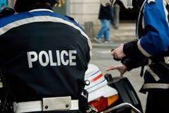 Polícia francês Foto de Stock