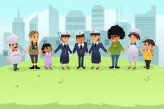 Polícia que guarda as mãos com cidadãos Fotos de Stock