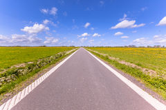 Polder country road Holland Royalty Free Stock Photo