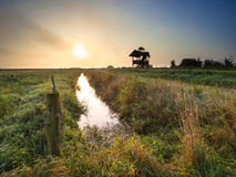 Polder Landscape Zuidlaardermeer Royalty Free Stock Photo