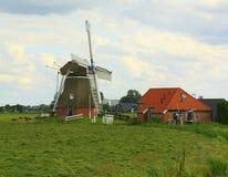 Polder mil `De Jonge Held& x22; Royalty Free Stock Images