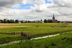 Polder in the Netherlands Stock Images