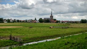 Polder in the Netherlands Royalty Free Stock Photo