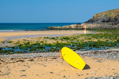 Poldhu Cove Cornwall England Stock Image