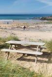 Poldhu strand Cornwall England UK Royaltyfri Bild