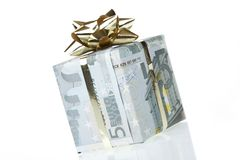 pole 5 euro prezent Fotografia Royalty Free