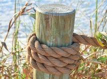 Pole auf dem Strand Stockfotografie