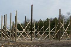 A pole Barn under construction Stock Photography