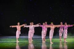 Pole bitwy kwiatów grupy Żółty Rzeczny taniec Fotografia Royalty Free