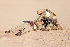 Pole bitwy medycyna w pustyni Zdjęcie Royalty Free