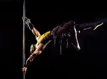 On the pole bodyart Scorpion. From Mortal Kombat Stock Images