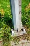 Pole bottom Royalty Free Stock Image