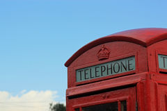 pole brytyjski telefon Fotografia Stock
