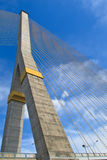 The pole of cable bridge Stock Photos