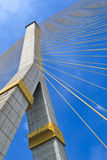 The pole of cable bridge Stock Images