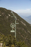 Pole for cableway transportation Royalty Free Stock Photo
