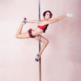 Pole-dance Royalty Free Stock Photos