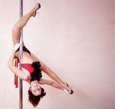 Pole-dance Stock Photo