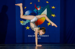 POLE DANCE  CHAMPIONSHIP - Junior Royalty Free Stock Photography