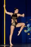 POLE DANCE CHAMPIONSHIP - Women royalty free stock image