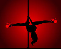 Pole dance Royalty Free Stock Photo