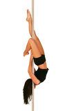 Pole dance fitness Royalty Free Stock Images