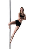Pole dance girl Royalty Free Stock Photos