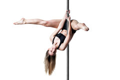 Pole dance girl Stock Photo