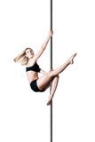 Pole dance girl Royalty Free Stock Photo