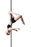 Pole dance girl Royalty Free Stock Image