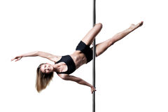 Pole dance girl Stock Photography