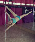 Pole Dance. Royalty Free Stock Photography