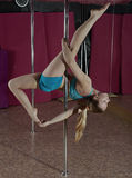 Pole Dance. Royalty Free Stock Photos