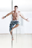 Pole Dance Man Stock Images