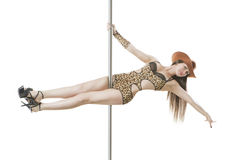 Pole dance show Royalty Free Stock Photography