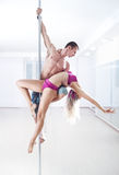 Pole dance team Royalty Free Stock Images