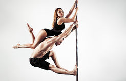 Pole dance team Royalty Free Stock Photography